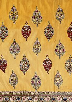 Skirt cloth, silk embroidered with silk thread, Kutch, Gujurat, circa 1850 ©Victoria & Albert Museum. - style court: The Fabric of India