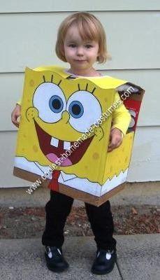 Coolest DIY Spongebob Halloween Costume Idea  sc 1 st  Pinterest & Old milk carton filled with lights make great Halloween ghost ...