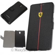 FERRARI CUSTODIA ORIGINALE FLIP COVER BOOK CASE A LIBRO SAMSUNG GALAXY NOTE 3 NEO N7500 N7505 NERO BLACK
