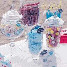 Pedestal Apothecary Jars perfect for candy bars, dessert buffets - even as wedding centerpieces!