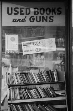 Used books and guns.