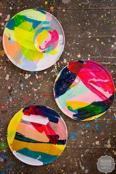 The couple's latest foray into homewares is a collection of vivid handpainted plates and dishes.