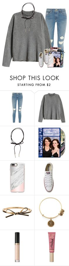 """one tree hill😻"" by ellaswiftie13 on Polyvore featuring Frame, H&M, Däv, Casetify, Converse, Kate Spade, Alex and Ani, Too Faced Cosmetics, Chloé and Honora"