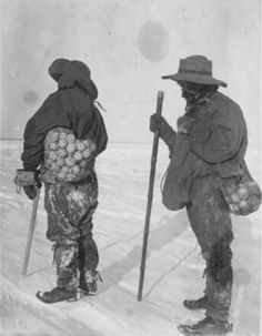 inexpressibleisland: Antarctica is Easter Island. Penguin Egg hunt on Robert Falcon Scott's 1901 Discovery Expedition. (via littlebrumble) Old Pictures, Old Photos, Penguin Egg, North Pole Expedition, Robert Falcon Scott, Captain Scott, Heroic Age, Arctic Explorers, Research Images