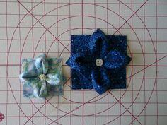 Fabric flower origami tutorial