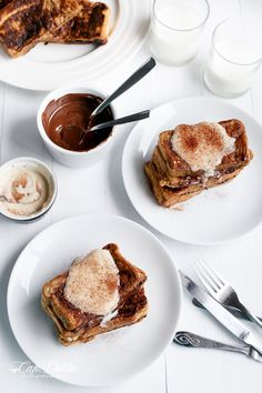 Cappucino French Toast With Coffee Cream ♥ // via Cafe Delites