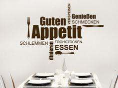 Wandtattoo Guten Appetit #Küche #Esszimmer #Wortwolke