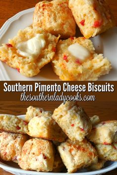 Easy Southern biscuit recipe with pimento cheese. Delicious anytime with any meal. Easy Southern biscuit recipe with pimento cheese. Delicious anytime with any meal. Tailgating Recipes, Brunch Recipes, Bread Recipes, Appetizer Recipes, Crockpot Recipes, Breakfast Recipes, Cooking Recipes, Egg Recipes, Grilling Recipes