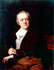 William Blake 28 November 1757 - 12 August 1827, was a poet, painter, and printmaker. Although largely unrecognized during his lifetime, he is now considered a seminal figure in the history of both the poetry and visual arts of the Romantic Age.
