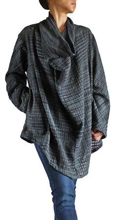 ターポン手織綿のデザインチュニック  BFS-097-03