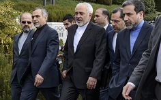 The Iranian negotiating team in Lausanne including Foreign Minister Mohammad Javad Zarif. Journalist Amir Hossein Motaghi sought political asylum while covering the negotiations