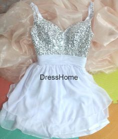 Short Blue Prom Dress  Cheap Prom Dress Short / Blue by DressHome, $119.99. Send off dress!