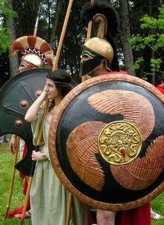 Greek hoplite re-enactors. More