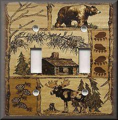 Metal Light Switch Plate Cover - Rustic Bear And Moose Cabin Decor Lodge Decor Moose Decor, Bear Decor, Funky Home Decor, Diy Home Decor, Country Decor, Rustic Decor, Country Living, Rustic Signs, Rustic Wood