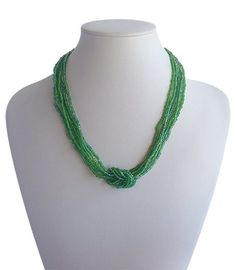 Love Knot Green A$19.50 Red Necklace, Beaded Necklace, Fair Trade Fashion, Knots, Artisan, Jewelry Making, India, Beads, Red Burgundy