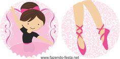kit festa bailarina topper