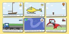 Transport Playdough Mats - Transport, Playdough, mat, car, van, lorry, bike, motorbike, plane, aeroplane, tractor, truck, bus