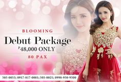The Best Most Affordable Debut Package in San Juan Metro Manila by Gloria Maris-Wilson Events. Complete and Hassle Free Packages for you. Best Chinese Restaurant, City Restaurants, Party Venues, Packaging, Events, Manila, Formal Dresses, Birthday, Wedding