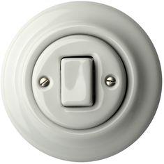 Porcelán villanykapcsolók - egy billentyűs - FAT ()  - ALBA | Katy Paty