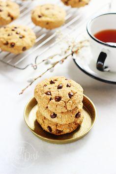 Hemp Seed Almond Cookies with Chocolate Chips {grain free, gluten free, paleo}