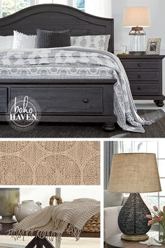 ... Panel Bed Adds The Perfect Finishing Touches To Any Bedroom Style. The  Storage Footboard Is Great For Saving Space Too! Boho Haven™   Ashley  Furniture ...