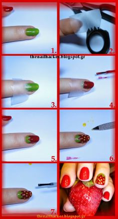 Strawberry nail art tutorial  For more tutorials please visit my blog http://thenailhacker.blogspot.gr