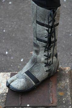 Japanese Leather Ninja Tabi Boots - Spiral by Ayyawear w/ Lifetime Warranty Gray #Ayyawear #SpiralTabi