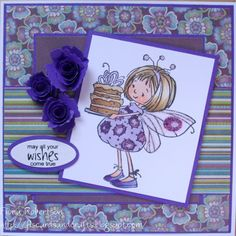handmade card using Let them eat Cake which you can buy from www.funkykits.co.uk  http://fiscardsandcrafts.blogspot.com