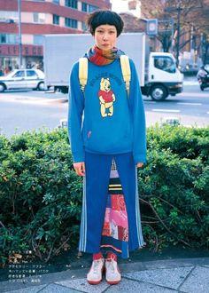 90's FRUiTS Asian Street Style, Tokyo Street Style, Japanese Street Fashion, Tokyo Fashion, Harajuku Fashion, 90s Fashion, High Fashion, Fruits Magazine, Harajuku Mode