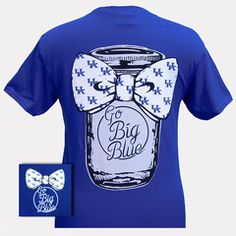 New UK Kentucky Wildcats Big Blue Mason Jar Bow T Shirt | SimplyCuteTees