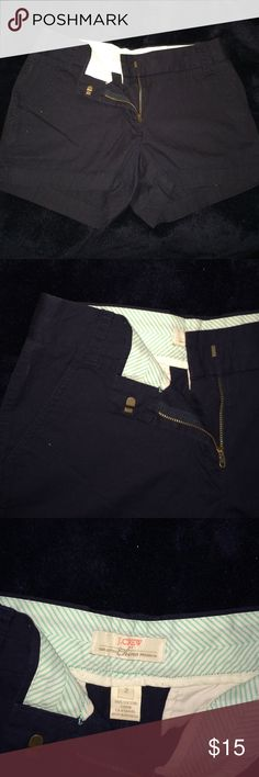 """J. Crew Broken-In Chino shorts, 3"""" inseam. Navy Blue 3"""" chino shorts. Only worn a couple of times. J. Crew Shorts"""