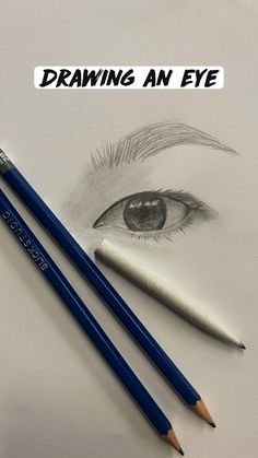 Drawing an Eye - time lapse of drawing an eye from a reference image using drawing pencils