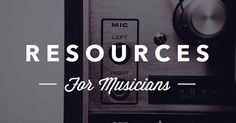 Internet marketing resources for musicians