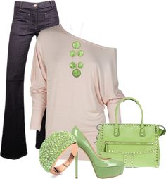 Loving shades of green for spring.