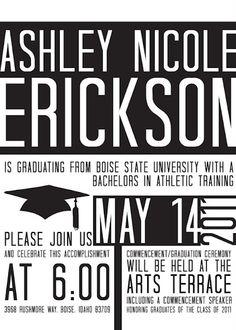 graduation invitation idea