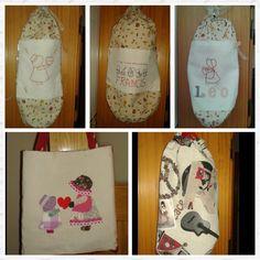 Guardabolsas y bolso de costura