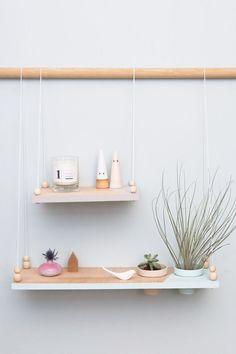 DIY Etagère suspendue avec pots intégrés