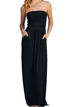 Stylish Strapless Sleeveless Striped Slimming Women's DressMaxi Dresses | RoseGal.com