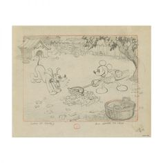 原画シートA ミッキーマウス:商品写真