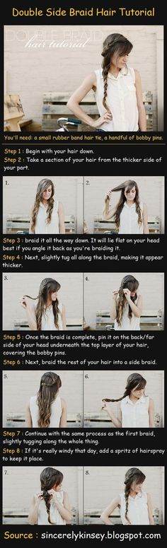 Double Side Braid Hairstyle
