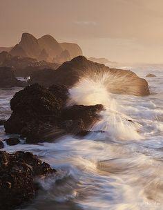 Sunset at Seal Rocks