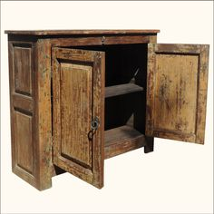 Reclaimed Wood Sideboards | Rustic Reclaimed Wood Storage Cabinet Buffet  Sideboard Credenza .