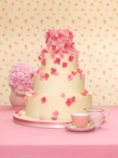 A romantic wedding cake by Zoe Clark: Wedding Inspirations magazine Spring 2011 issue (September 2011)
