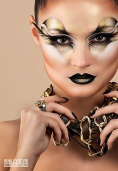 Gold Glam/ Makeup - Inna Lyudvik ❥|Mz. Manerz: Being well dressed is a beautiful form of confidence, happiness & politeness