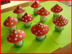 Muchomůrky | Rodina21 #autumn #child Fun Crafts For Kids, Art For Kids, Arts And Crafts, Diy Crafts, Small World Play, Sports Day, Event Decor, Stuffed Mushrooms, Creations