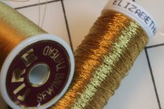 Underway with Glitters of Gold. Gold Elizabethan Twist and Tyre silk thread being used on Easter Set Pulpit Fall on Ecclesaistical Sewing.