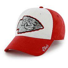 Womens 47 Brand Kansas City Chiefs Sparkle Slouch Adjustable Hat