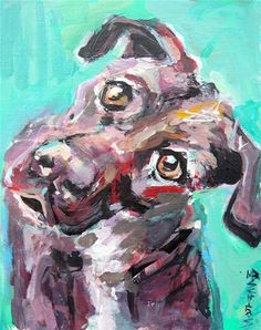 """Daily Paintworks -  """"Whats UP"""" Original  Fine Art for Sale © Mary Schiros♥♥"""
