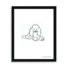 Poodle Framed Line Drawing - BedBathandBeyond.com
