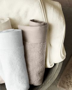 Crafted in pure organic cotton, these extrasoft, spa-quality towels are as elegant as they are effective.